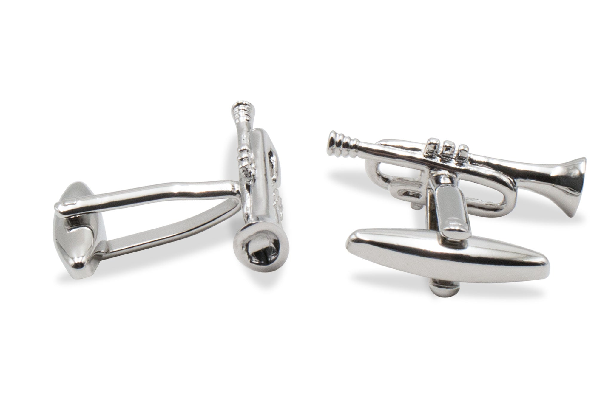 Antonio Chrome Trumpet Cufflinks