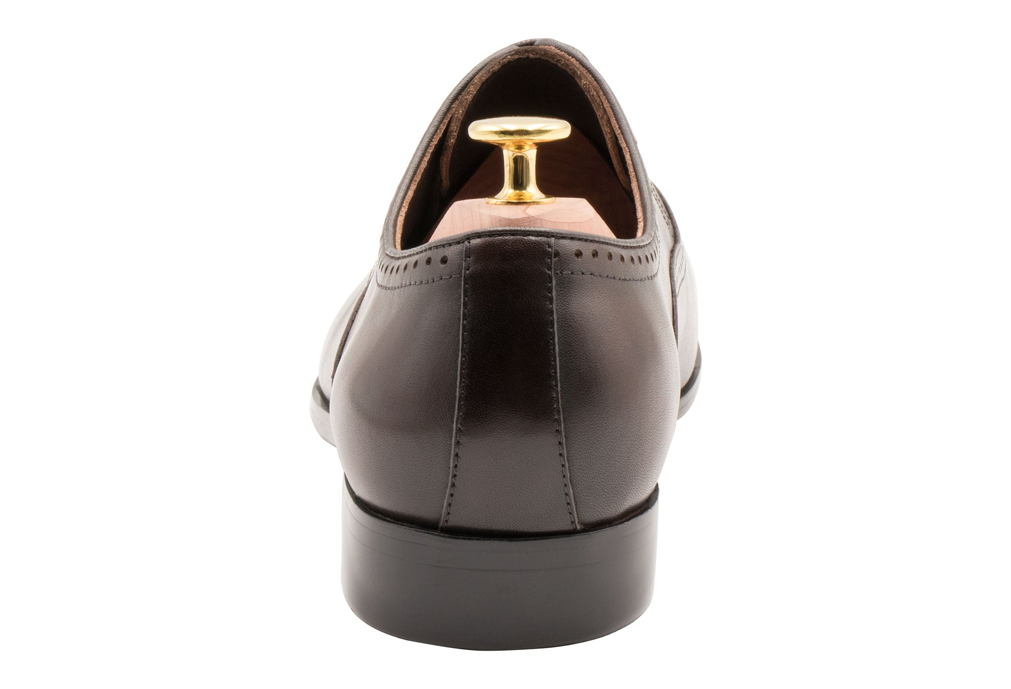 Mendoza Medallion Walnut Oxford Leather Shoes