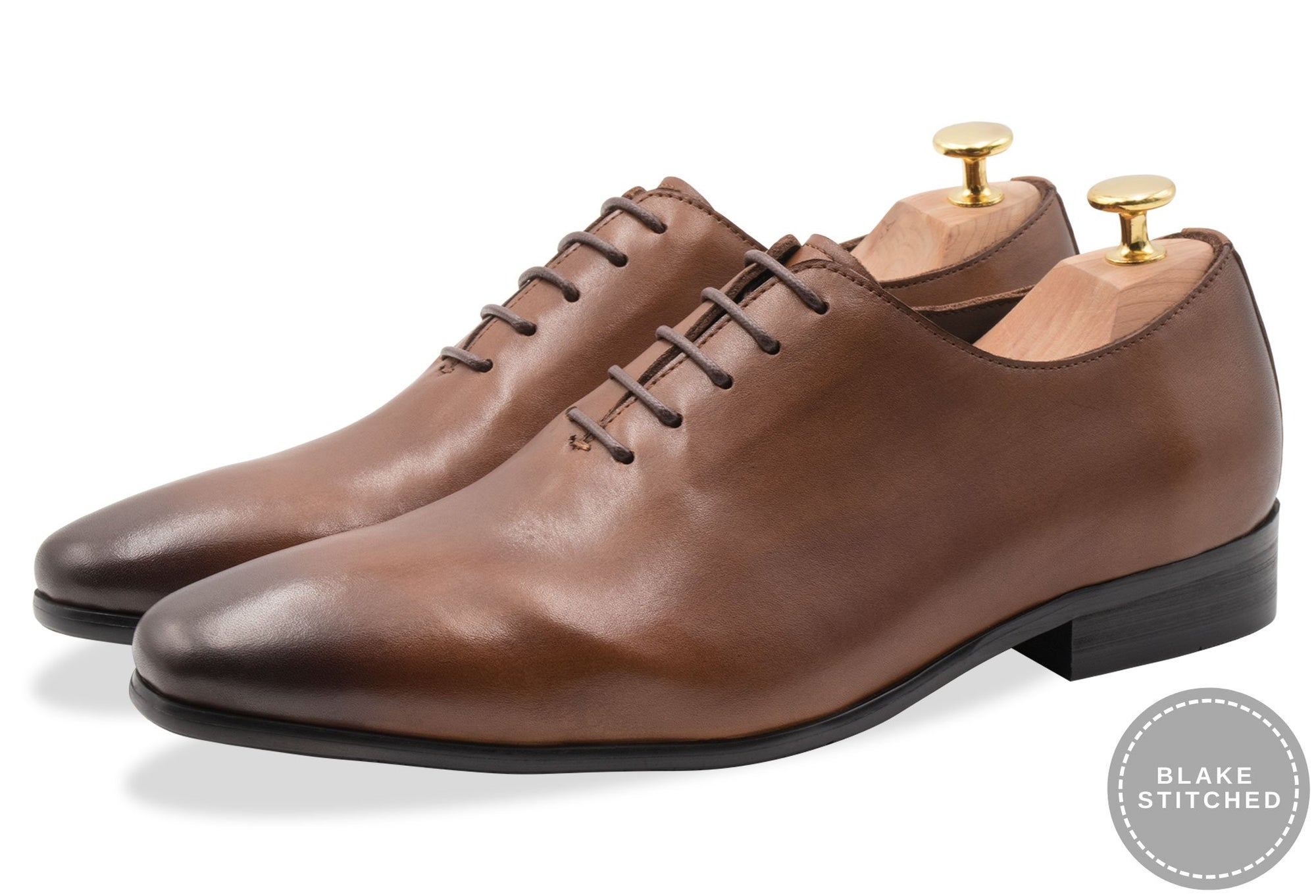 Carlota Blake Stitched Chestnut Oxford