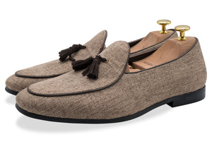 Rafael Brown Tassel Belgian Loafer