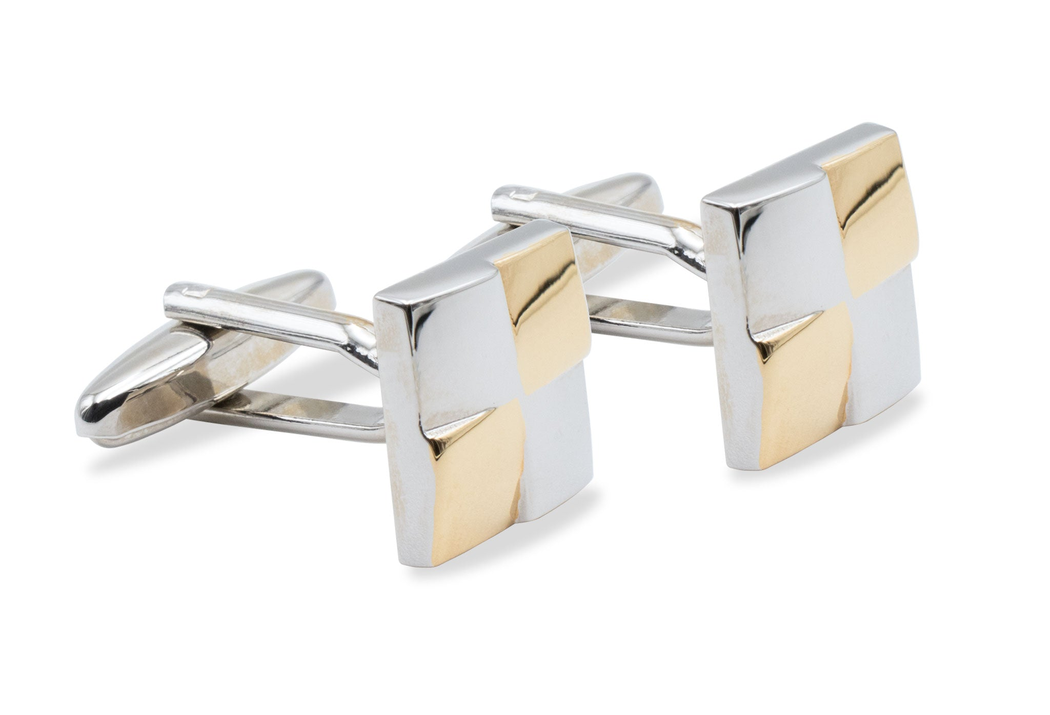 Yare Gold-Tone & Chrome Cufflink