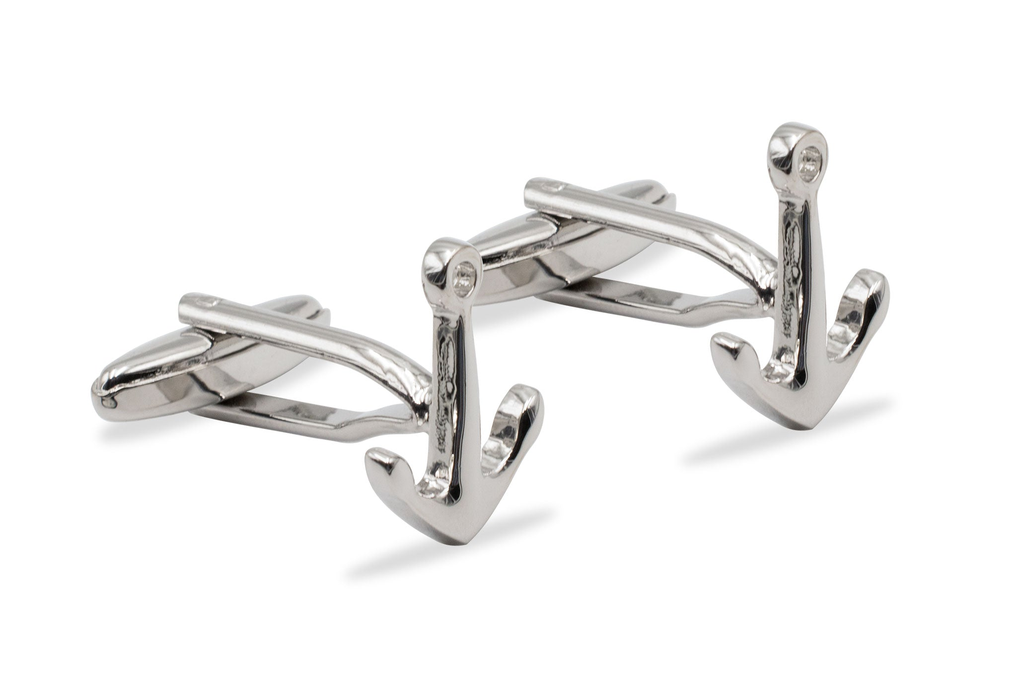 Caripito II Anchor Chrome Cufflink