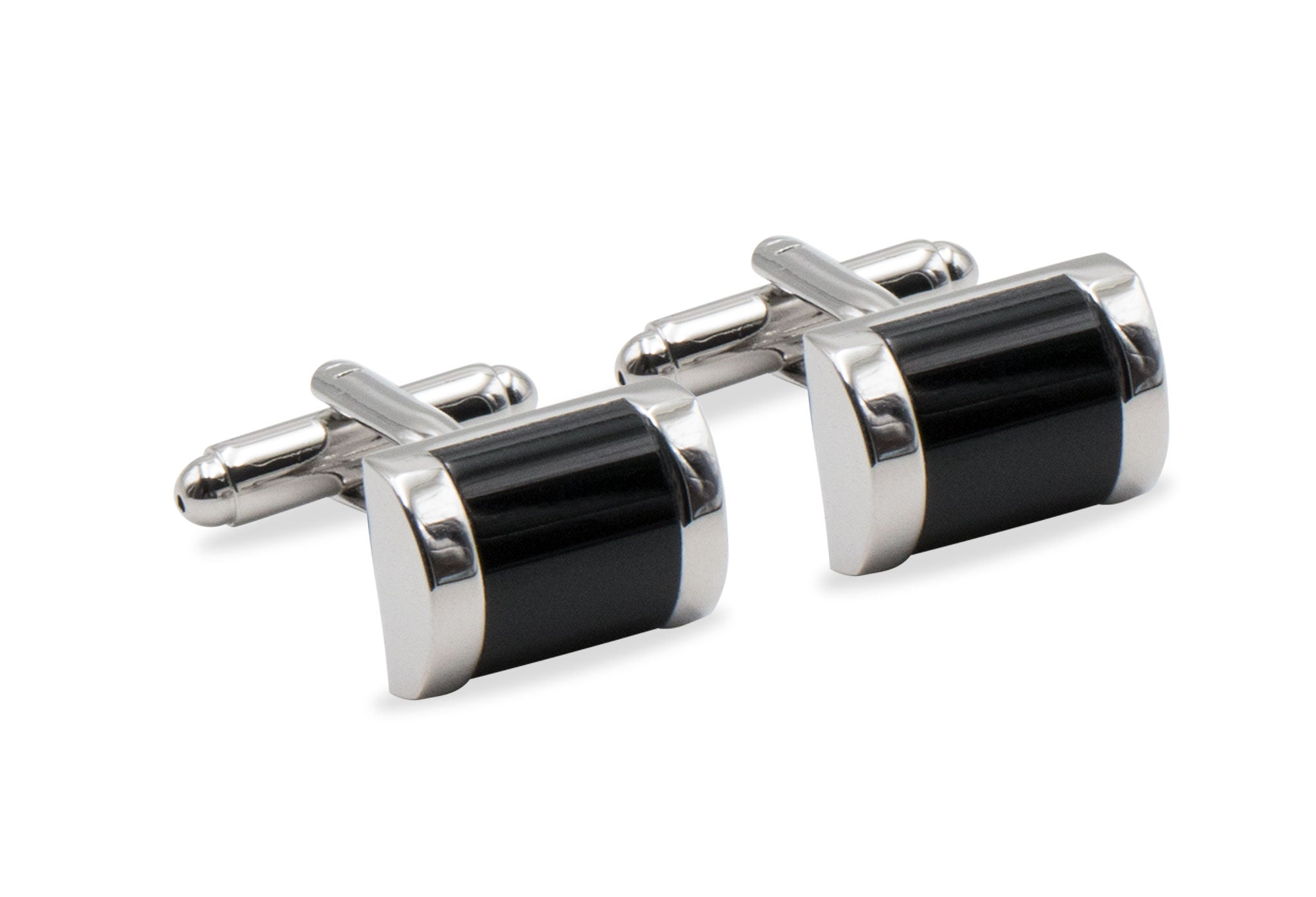 Casana Chrome & Black Cufflink