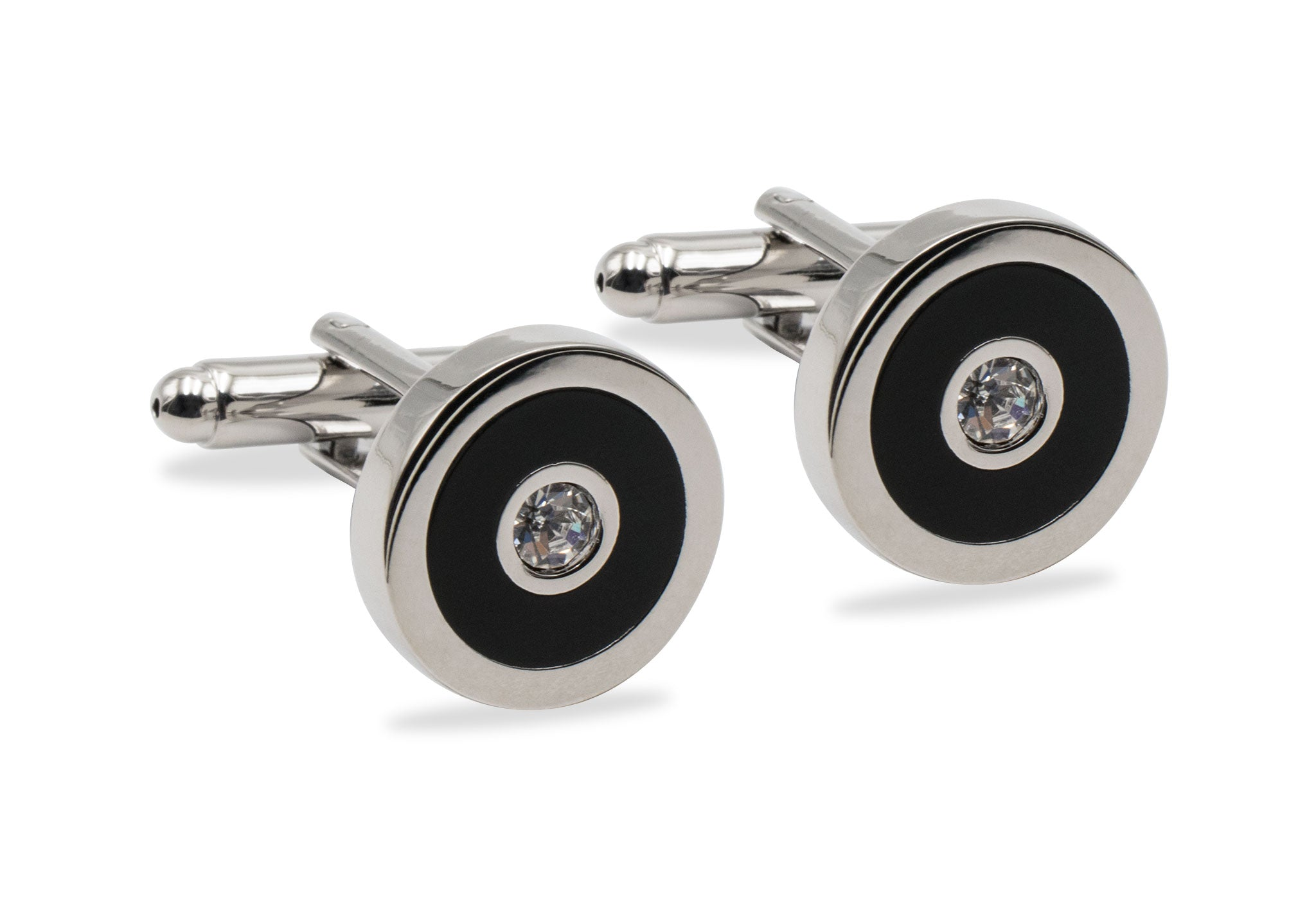 Guanare Chrome Diamonte Cufflink