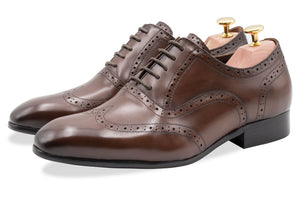 Rosario Wingtip Pecan Oxford Leather Shoes