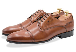 Estero Straight Cap Chestnut Derby