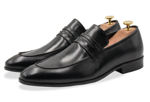 Olavarria Black Penny Loafer