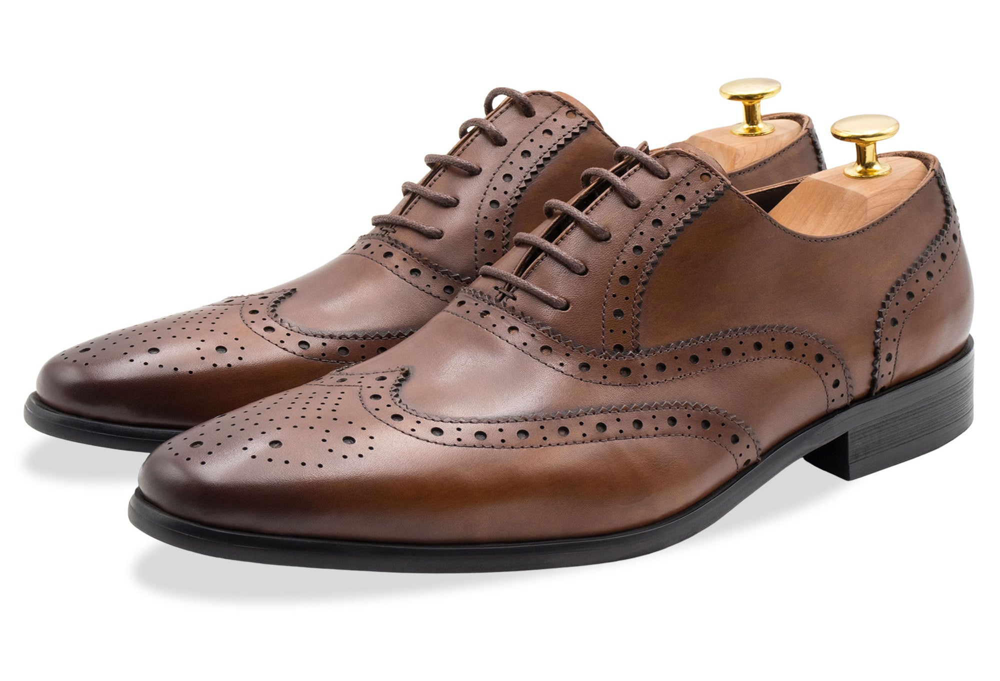 Salvador Wingtip Dark Chestnut Oxford