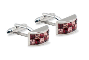 Cupira Diamonte Chrome Cufflink