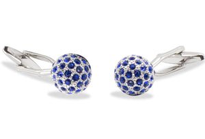 Sinamaica Blue Diamonte Cufflinks