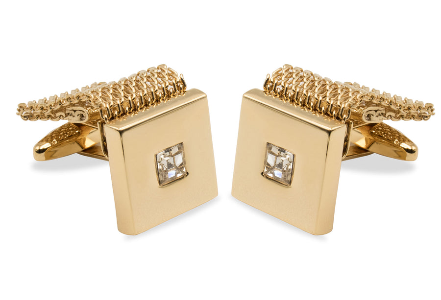 Caripe Gold Chrome Cufflink