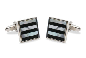 Ciudad Horizontal Stripe Cufflinks
