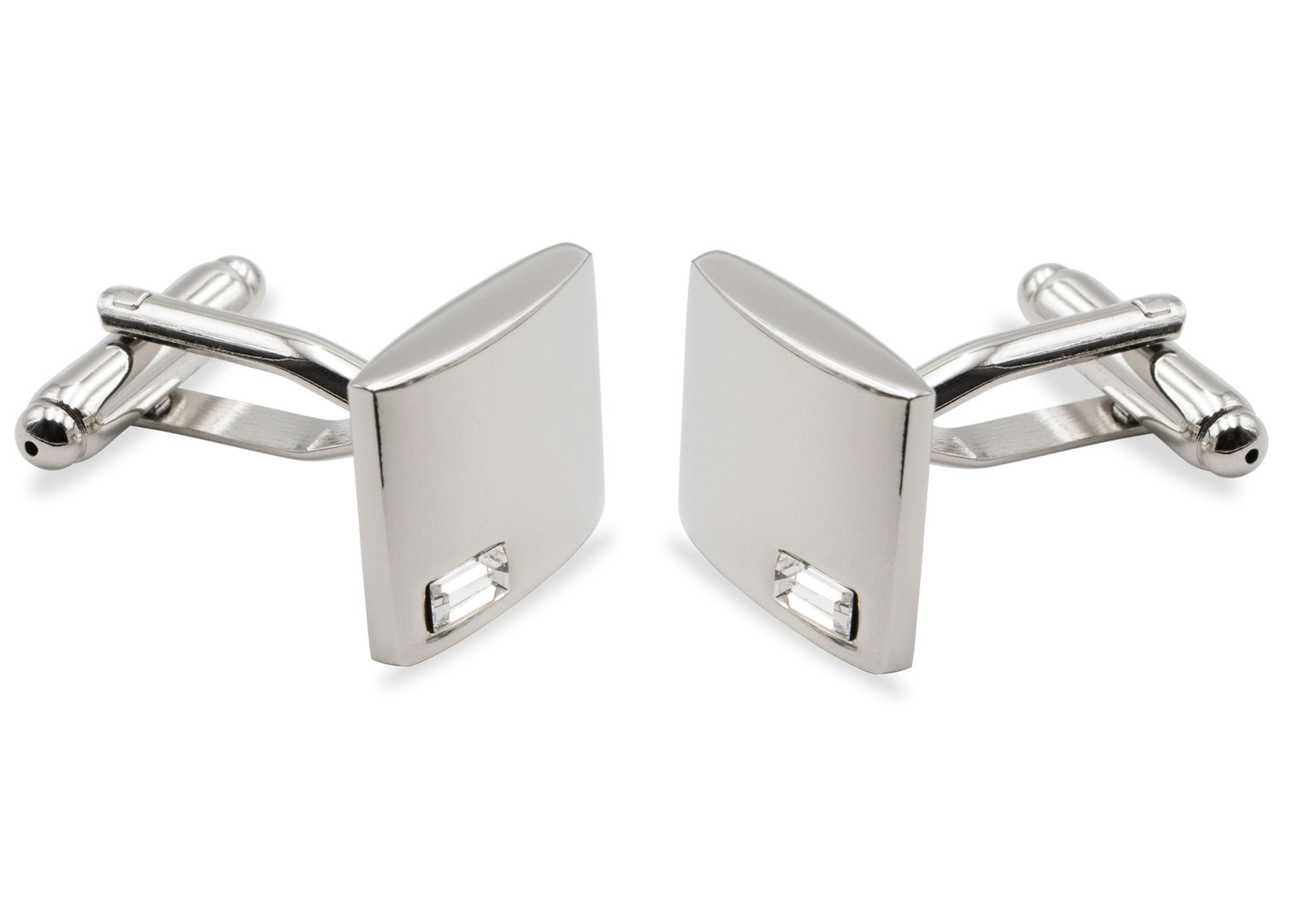 Ocumare Chrome Diamonte Cufflink