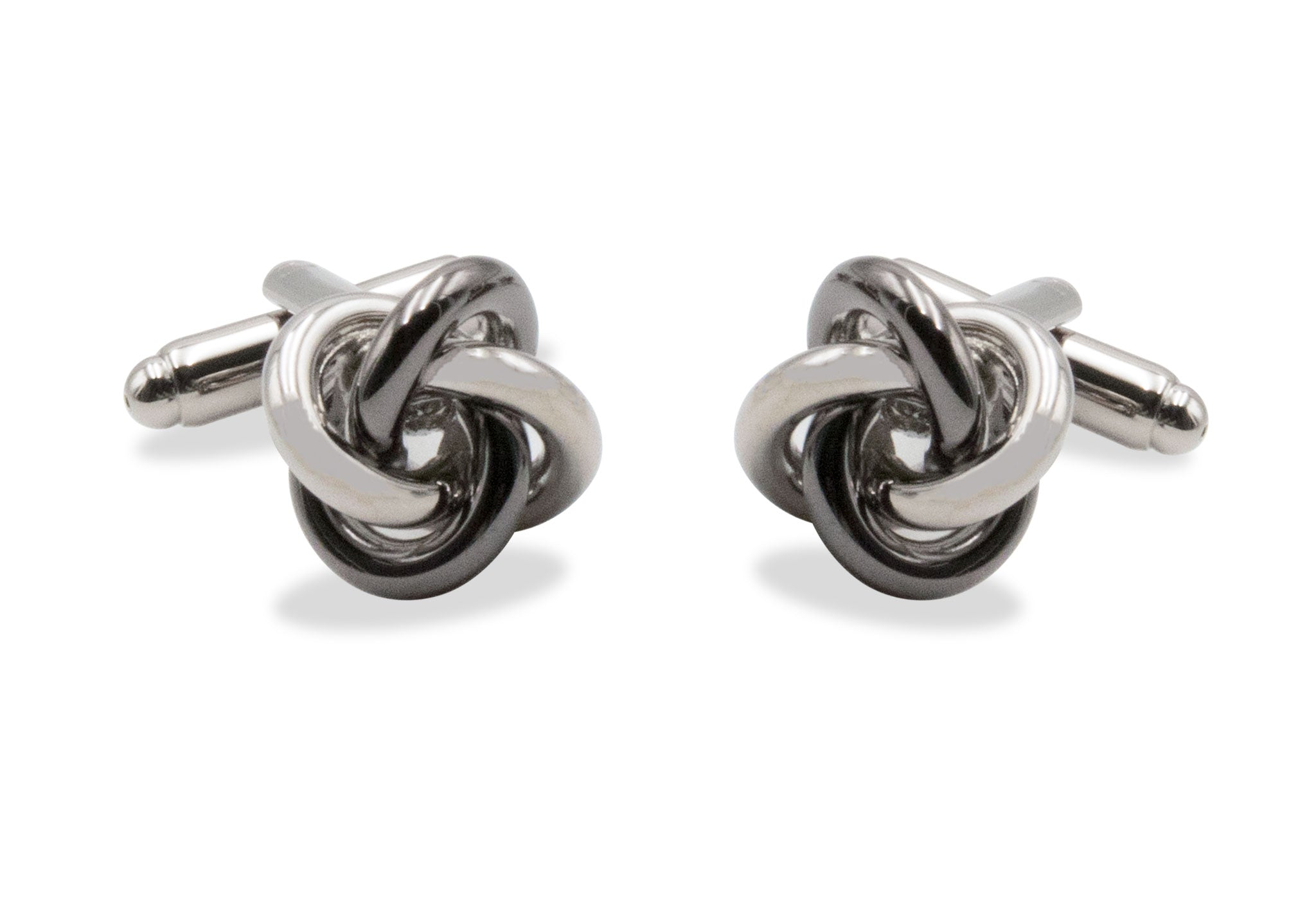 Ojeda Chrome Black Knot Cufflinks