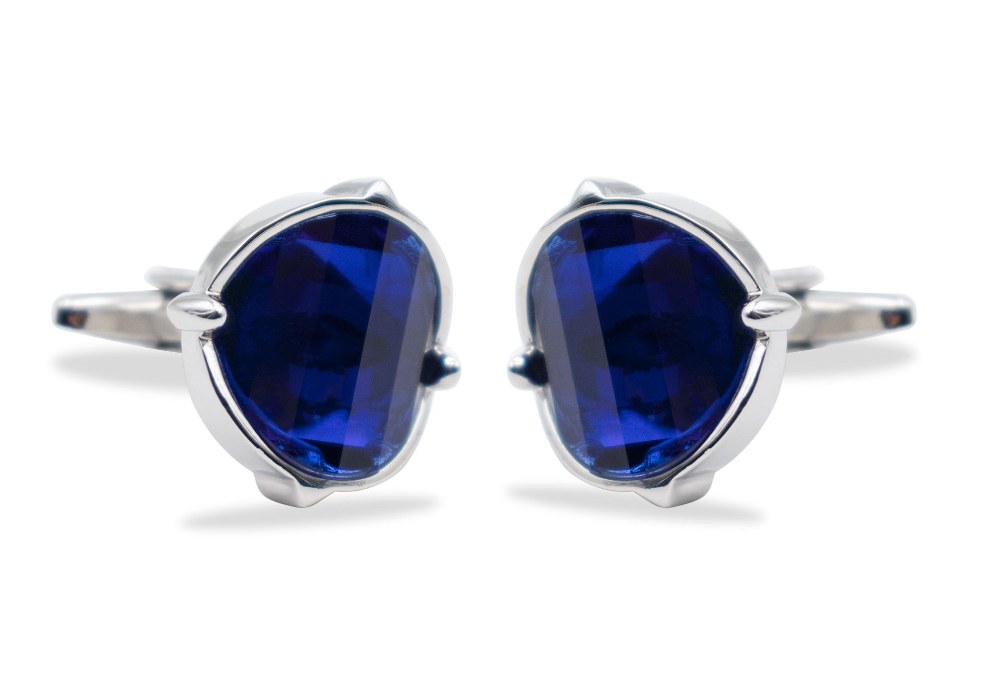 Ejido Blue-Purple Chrome Cufflink