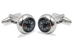 La Grita Chrome Compass Cufflink