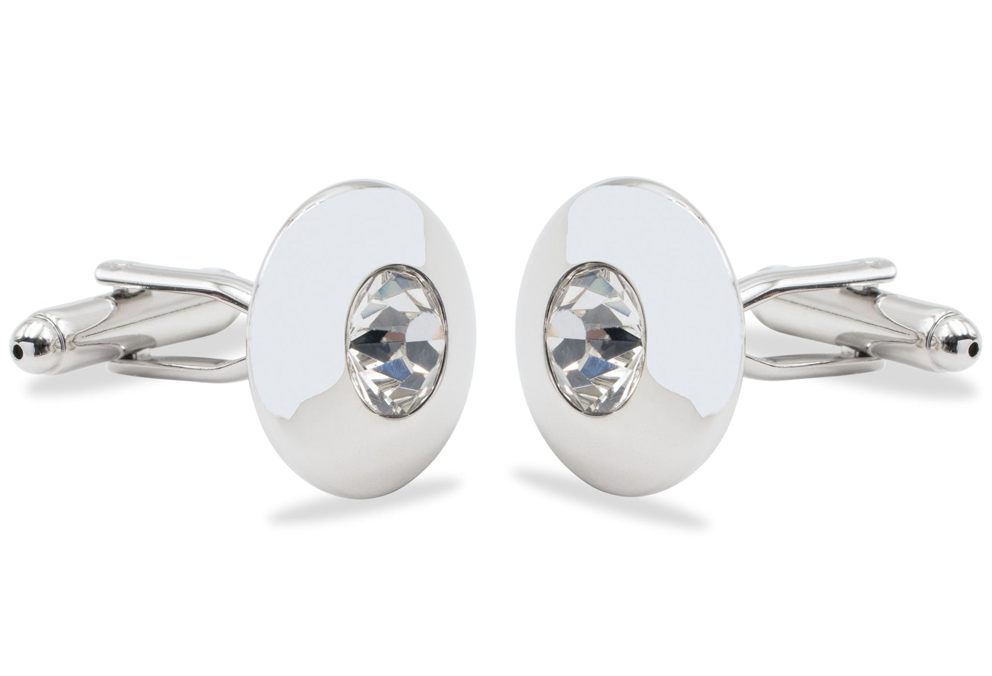 Mamporal Reflective Chrome Cufflink