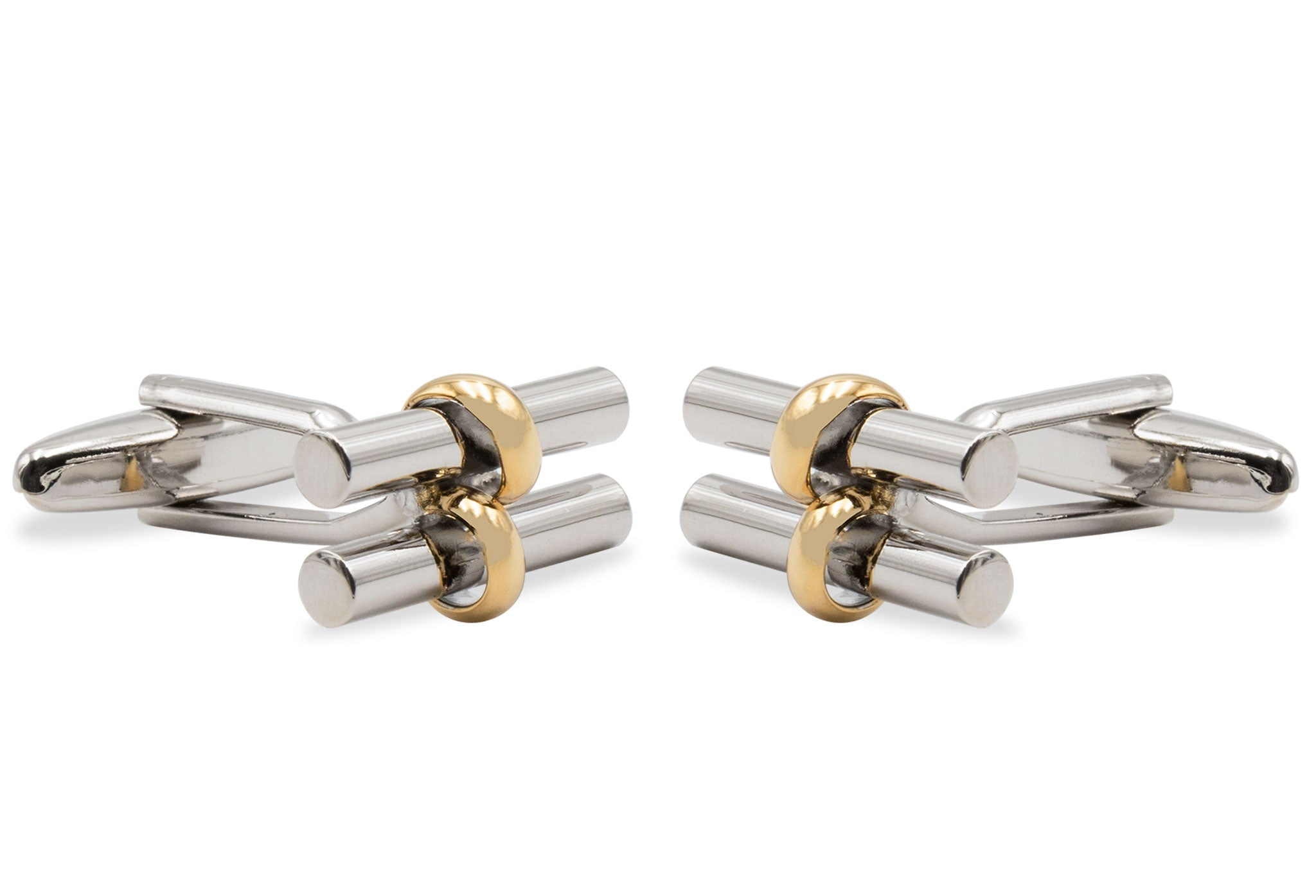 Arugua Gold-Chrome Cufflink