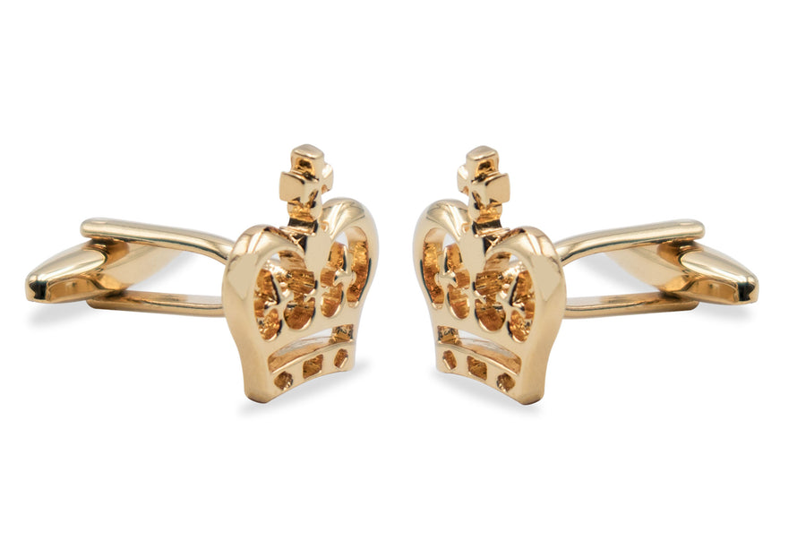 Sanare Gold-Tone Crown Cufflink