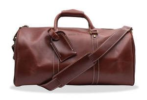 Bogota Black Vintage Leather Duffle