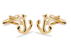 Caripito Anchor Gold-Tone Chrome Cufflink