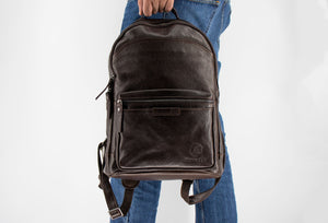 Cartagena Walnut Leather Backpack