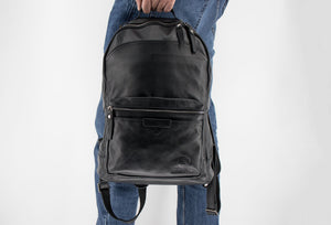 Cartagena Black Leather Backpack