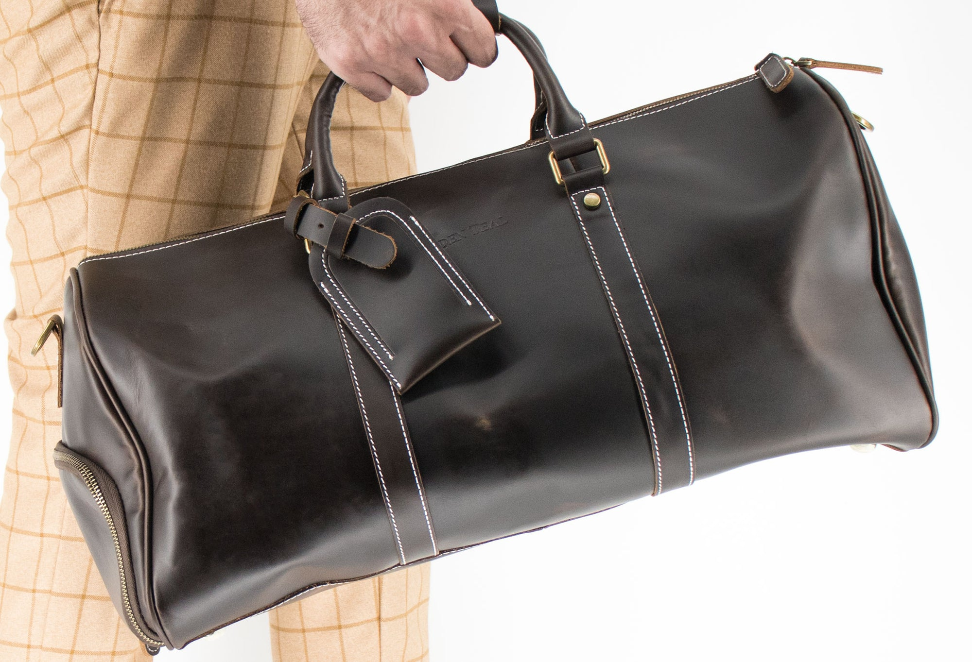 Bogota Walnut Vintage Leather Duffle