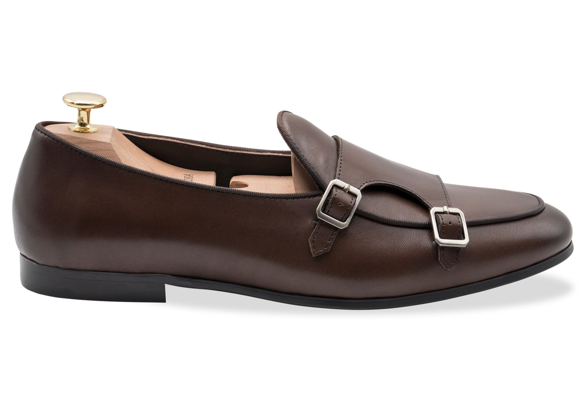Tuerto Walnut Double Monk Loafer