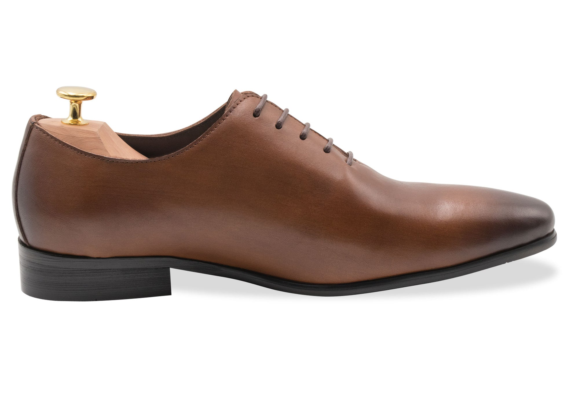 Carlota Wholecut Chestnut Oxford