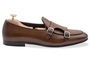 Tuerto Chestnut Double Monk Loafer