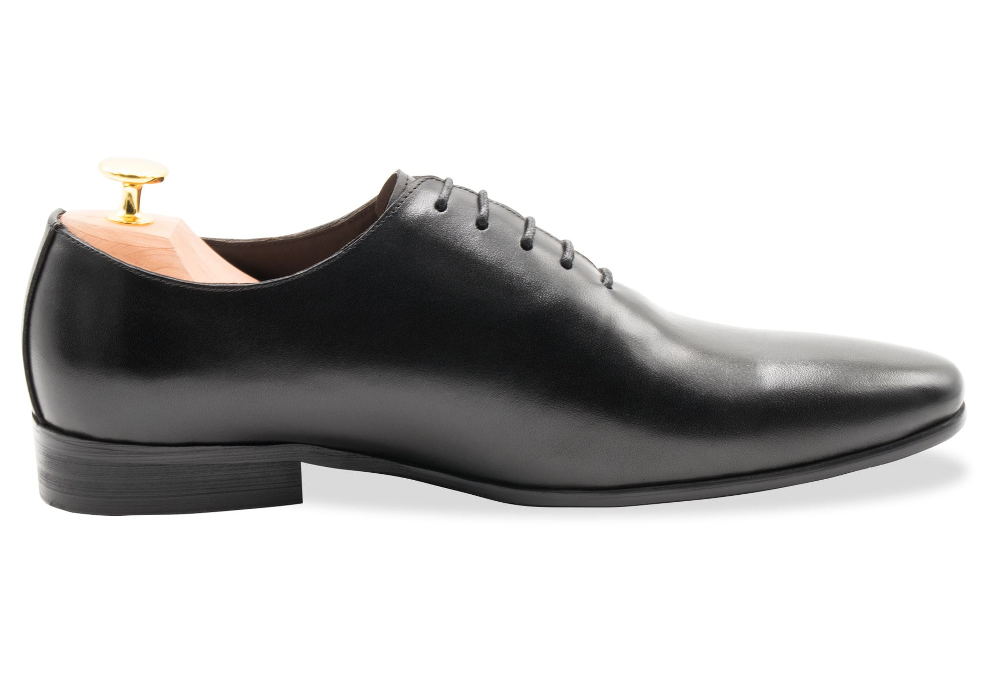 Carlota Blake Stitched Black Oxford