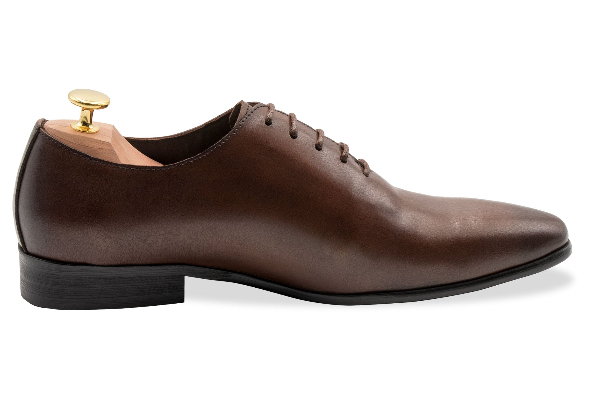 Carlota Wholecut Blake Stitched Walnut Oxford