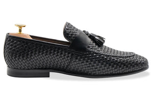 Valle Black Tassel Loafer