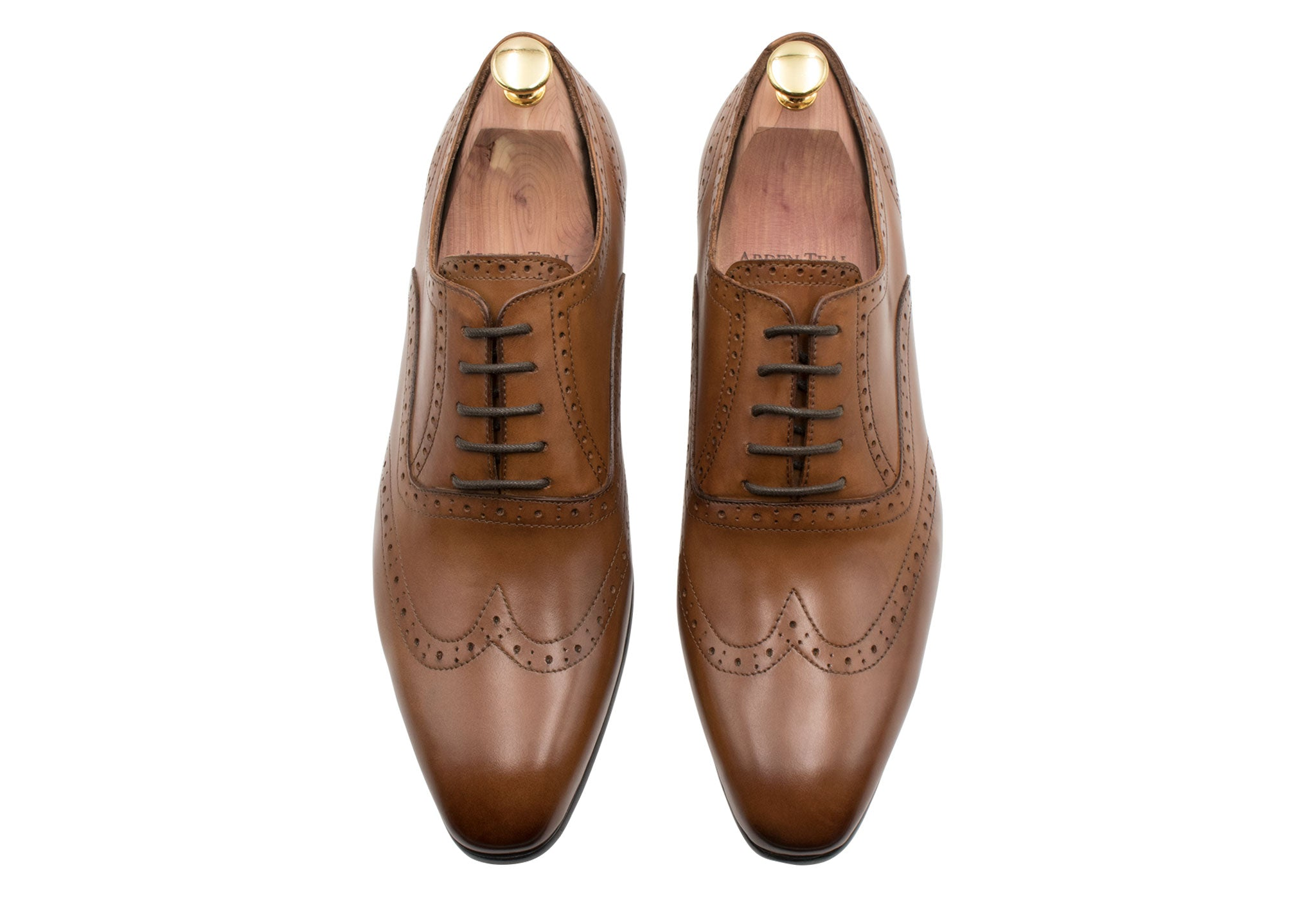 Rosario Wingtip Chestnut Oxford Leather Shoes