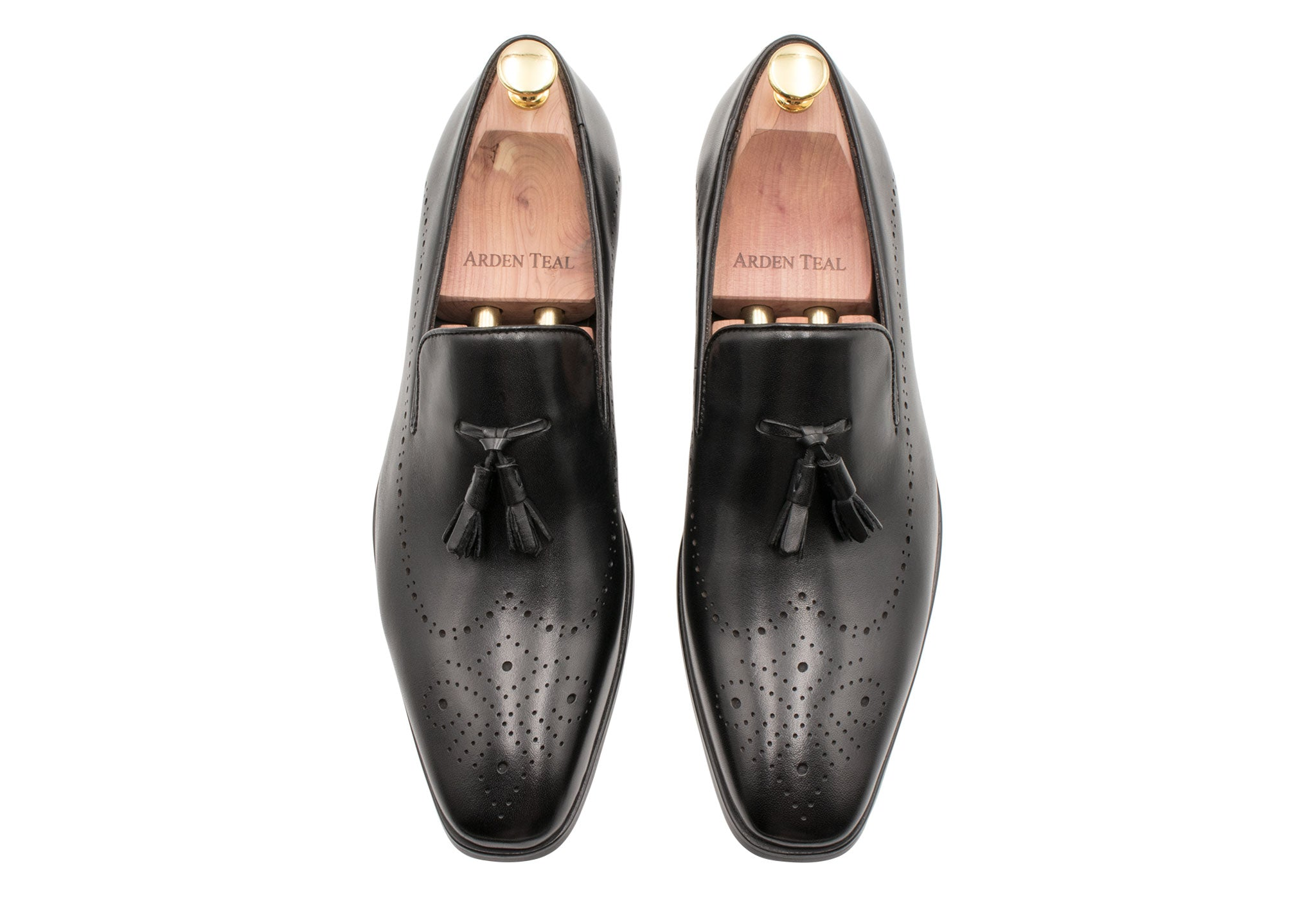 Pergamino Black Tassle Loafers
