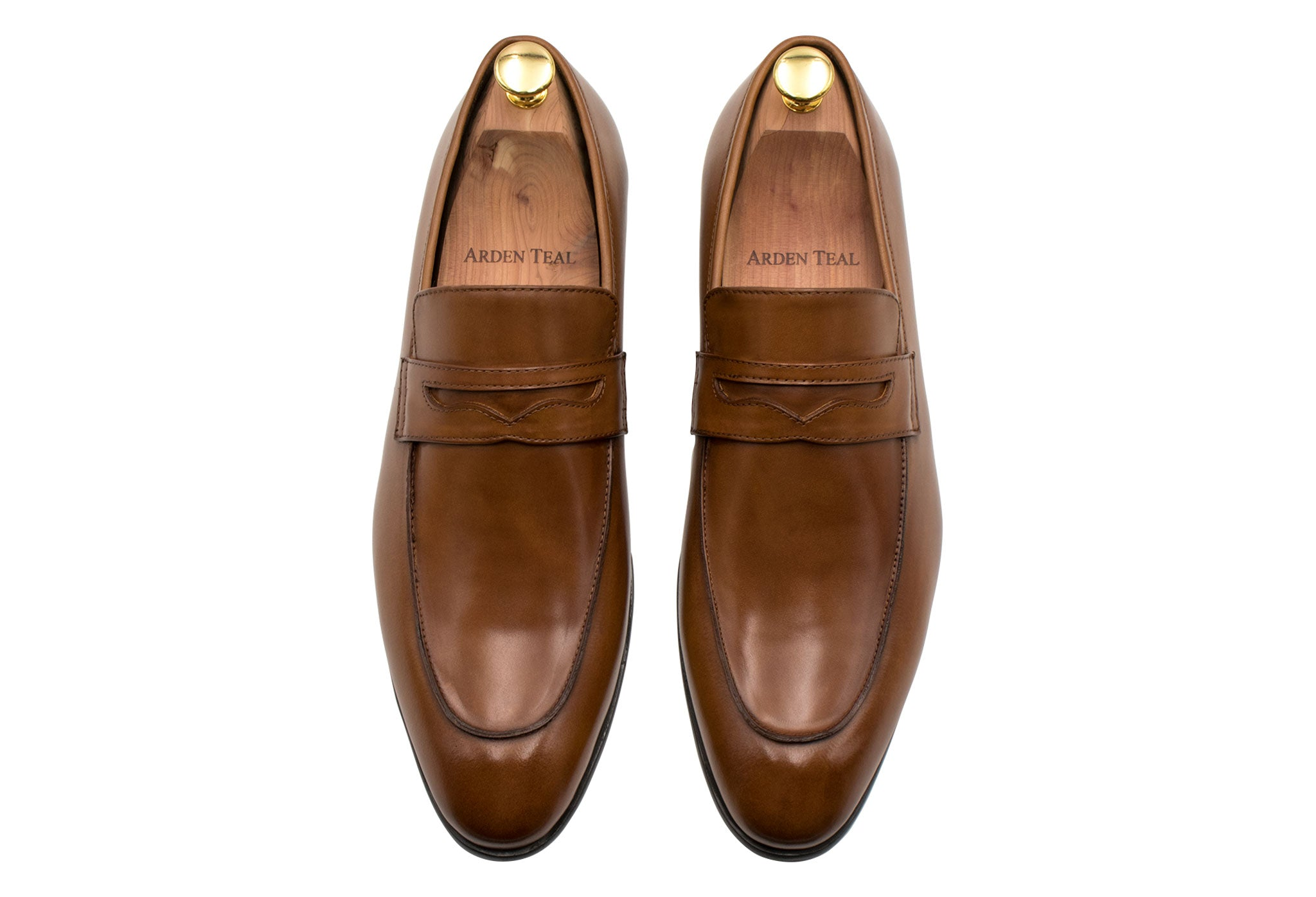 Olavarria Cognac Penny Loafer