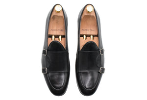 Tuerto Black Double Monk Loafer