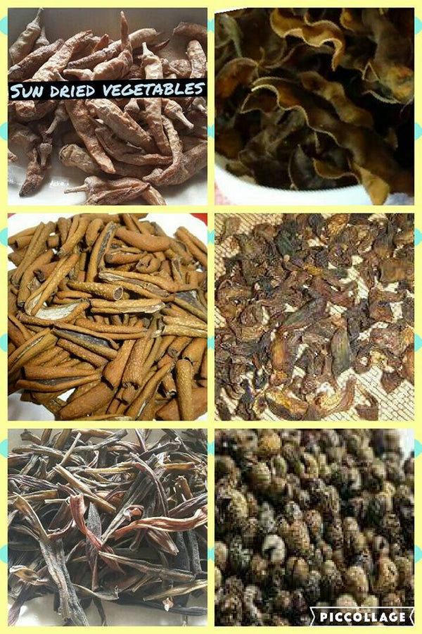 Collection of Dried Vegetables
