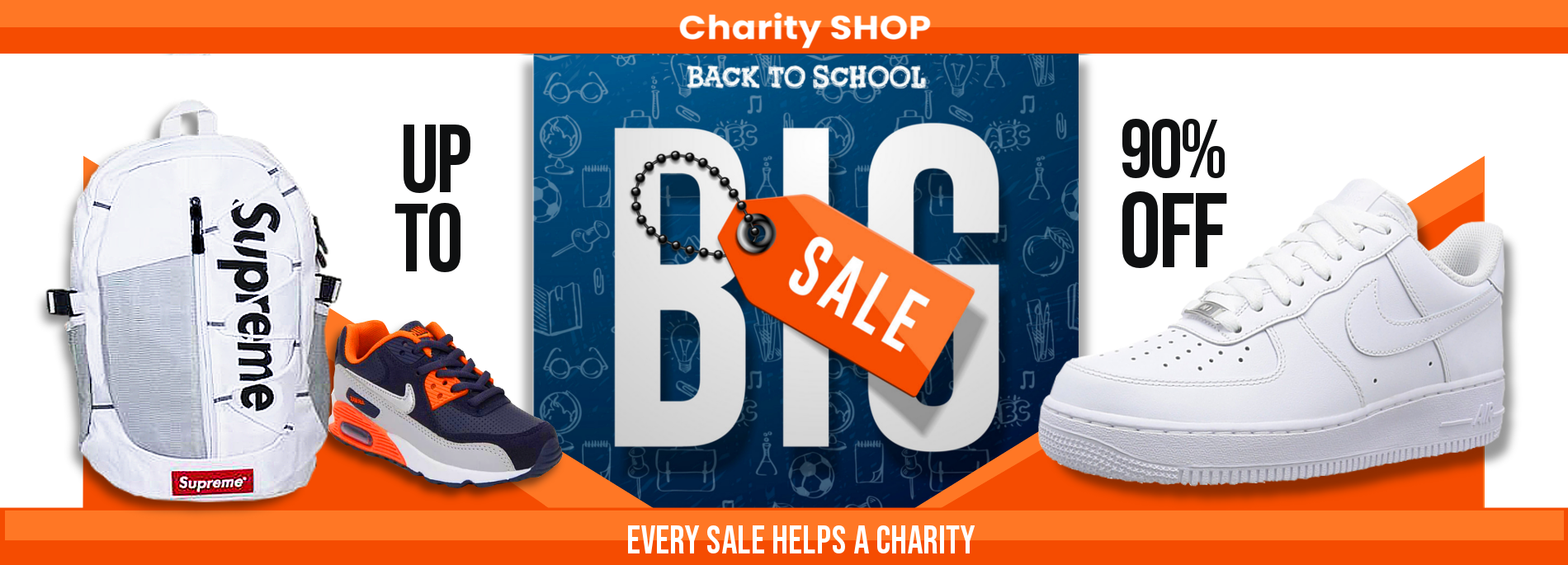 back to school sale that helps charity
