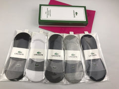 5 pair Lacoste Luxury no show Socks Box included