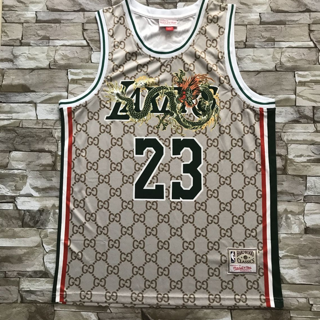 LeBron James Mitchell & Ness GG Lakers Jersey