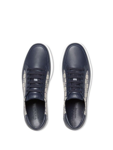 Common GG Supreme Ace Men's leather and canvas shoes trainers
