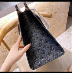 LV Black bag white stitched with FREE card holder Cyber Monday