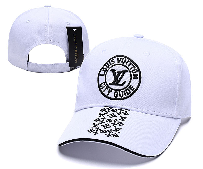 Beautiful LV white adjustable ball cap/hat