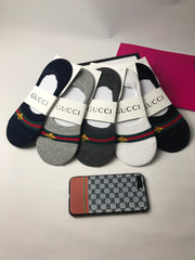 5 pair GG Luxury No Show Socks Box included
