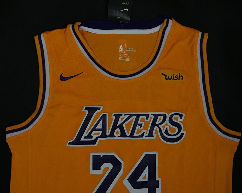 Kobe Bryant #24 LA Lakers gold Jersey - supports Kobe's charities