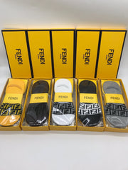 5 pair Designer Luxury No Show Socks