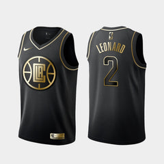 NBA Kawhi Leonard Clippers Jersey - Golden Edition