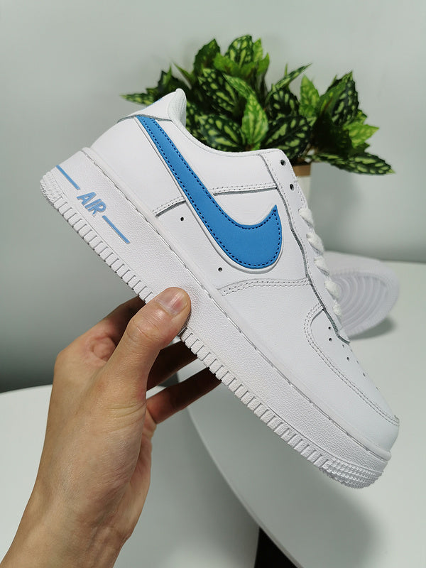 Original Nike AIR FORCE 1 AF1 Powder Blue $71 (Customized